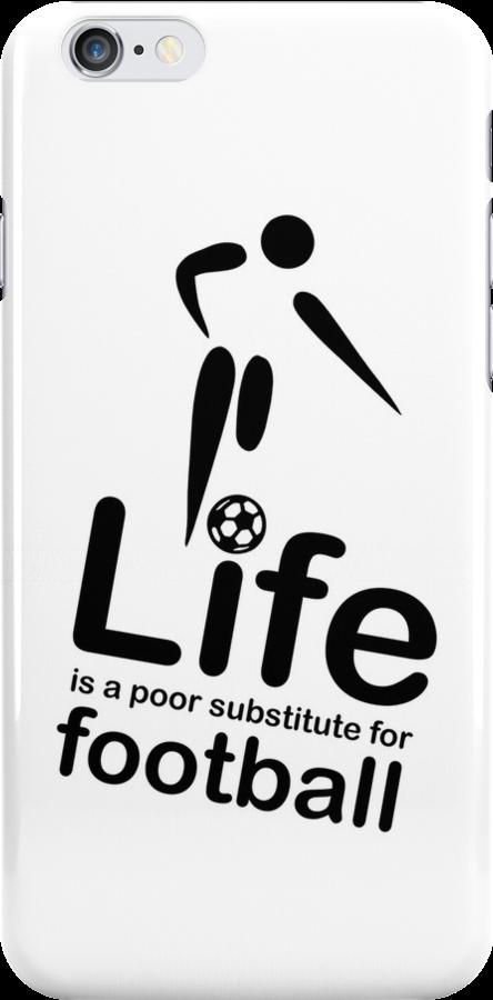 Soccer v Life - White by Ron Marton
