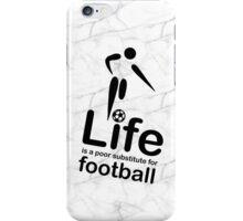 Soccer v Life - Marble iPhone Case/Skin