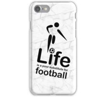 Soccer v Life - Marble iPhone Case/Skin