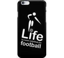 Soccer v Life - Black iPhone Case/Skin