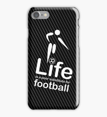 Soccer v Life - Carbon Fibre Finish iPhone Case/Skin