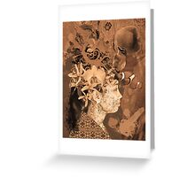 Woman with white orchid Greeting Card
