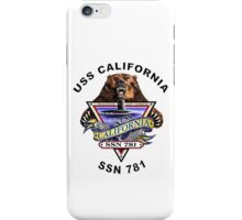 SSN-781 USS California Crest iPhone Case/Skin