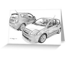Citroen C2 VTS Greeting Card