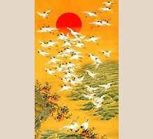 Beautiful picture with red sun and birds Unisex T-Shirt
