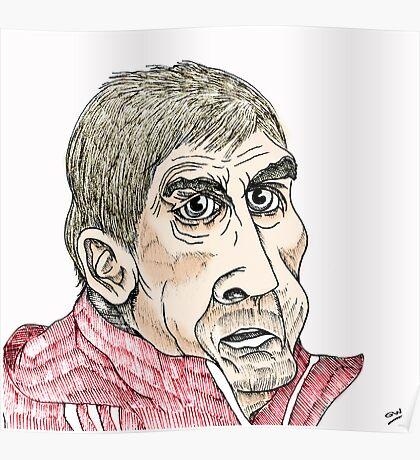 Kenny Dalglish Cartoon Caricature Poster