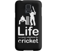 Cricket v Life - Black Samsung Galaxy Case/Skin