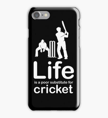 Cricket v Life - Black iPhone Case/Skin