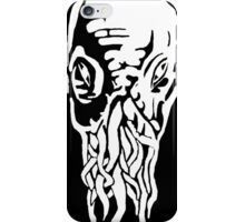 Doctor Who - Ood - Black & White iPhone Case/Skin