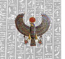 Winged Horus by Ommik