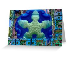Stay Puft Marshmallow Man Invades NYC  (UF0591) Greeting Card