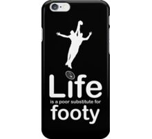 AFL v Life - Black iPhone Case/Skin