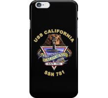 SSN-781 USS California Crest for Dark Colors iPhone Case/Skin