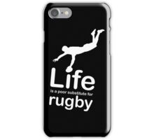 Rugby v Life - Black iPhone Case/Skin