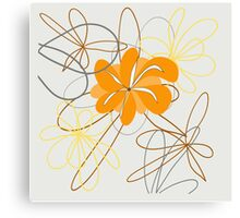 design art flower abstract beauty backgrounds beautiful nature decoration floral spring Canvas Print