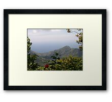 Paradise in the mountains Framed Print