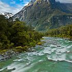 Tutoko River - Fiordland - New Zealand by Kimball Chen