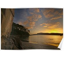 Quiet Corner - sunrise over Bruny Island Poster