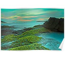Fingal Bay at Sunset Poster