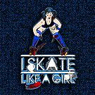 Blue Psychotic - Skate like a Girl - Iphone cover by Tracey Quick