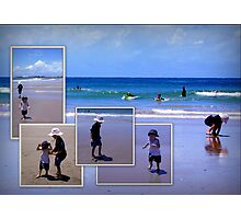 Fun in the sun at The Broom Photographic Print