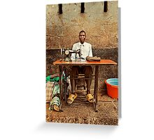 Great African Tailor Greeting Card