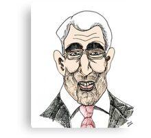 Alistair Darling Cartoon Caricature Canvas Print