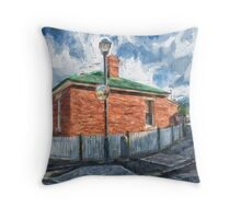 Red Brick House in Hobart Throw Pillow