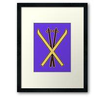 Skiing Framed Print