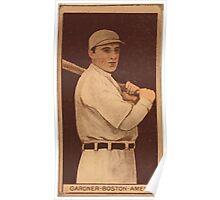 Benjamin K Edwards Collection William Lawrence Gardner Boston Red Sox baseball card portrait Poster