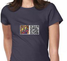 QR code tiki Womens Fitted T-Shirt