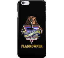 SSN-781 USS California Plank Owner Crest for Dark Colors iPhone Case/Skin