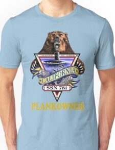 SSN-781 USS California Plank Owner Crest for Dark Colors Unisex T-Shirt