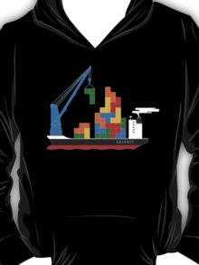 TETRIS CARGO SHIP Last Man On Earth phil miller T-Shirt