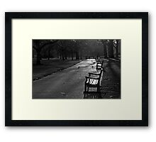 Empty seat, St James Park, London Framed Print