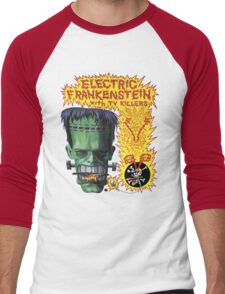 Electric Frankenstein Gig Poster Men's Baseball ¾ T-Shirt