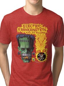 Electric Frankenstein Gig Poster Tri-blend T-Shirt