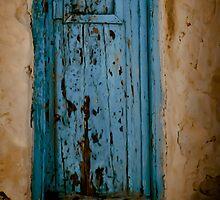 Blue door on Mykonos by KSKphotography