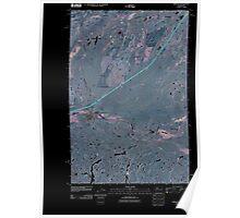 USGS Topo Map Washington State WA Sprague 20110401 TM Inverted Poster