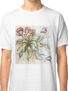 Bridal Bouquet.Hand drawn watercolor and ink drawing Classic T-Shirt