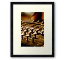 Enigma Machine Framed Print