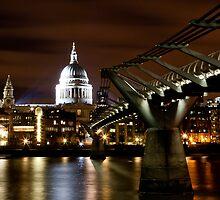 St. Pauls by Night by Mark Hood