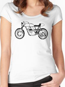 Classic Cafe Racer Women's Fitted Scoop T-Shirt