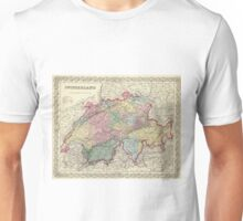 Vintage Map of Switzerland (1856) Unisex T-Shirt