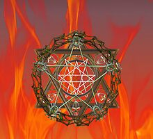 Pentacle of Gaia .. iphone case by LoneAngel