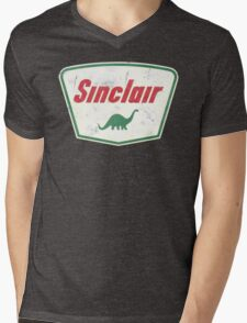 Vintage Sinclair logo Mens V-Neck T-Shirt