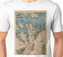 Vintage Map of Sydney Australia (1922) Unisex T-Shirt