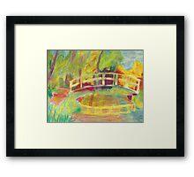 Monet's Japanese Bridge- Color Framed Print