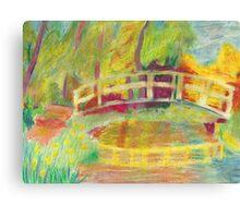 Monet's Japanese Bridge- Color Canvas Print
