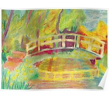 Monet's Japanese Bridge- Color Poster